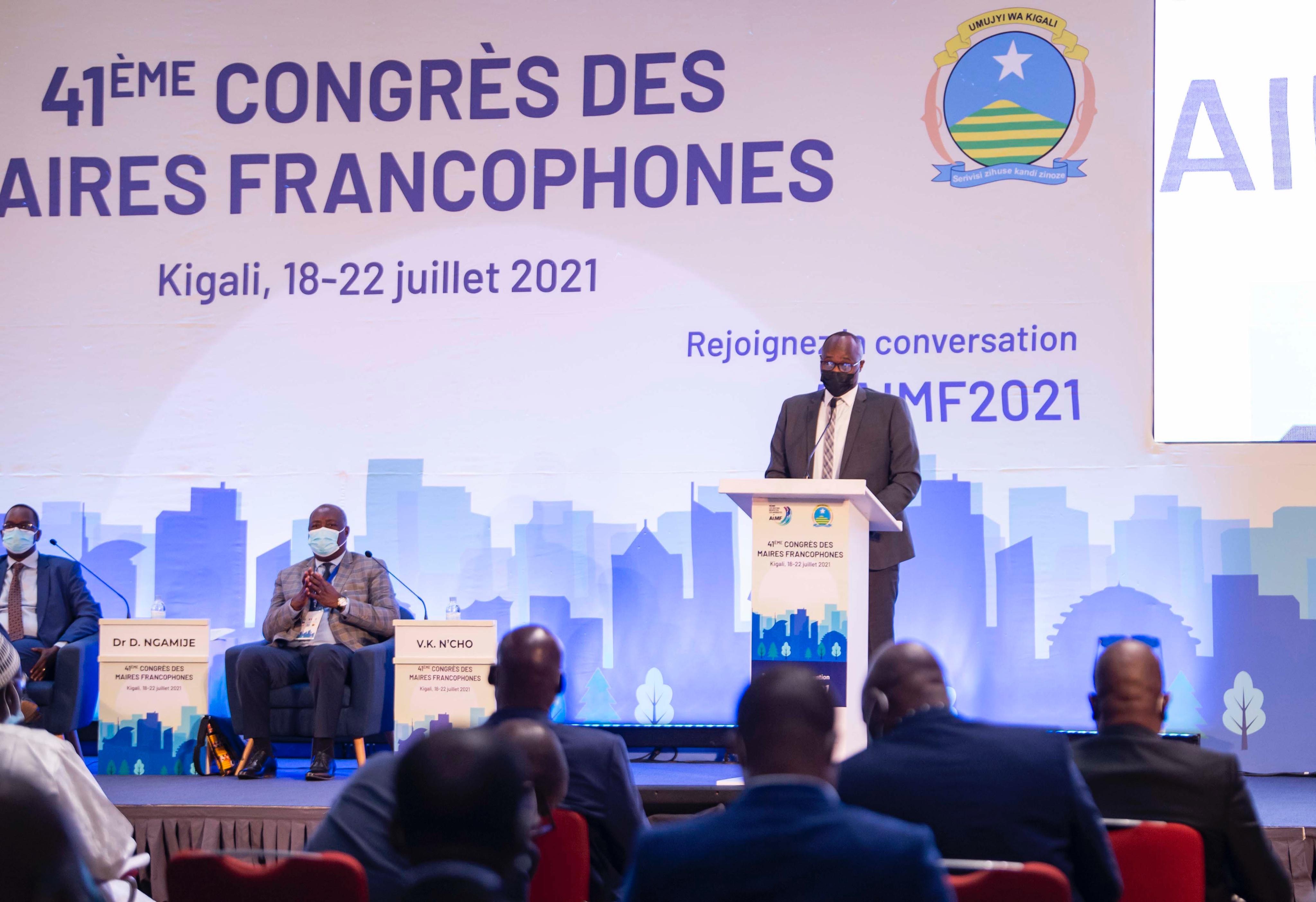 Le DAGL prend part au 41ème Congrès de l'Association Internationale des Maires Francophones à Kigali