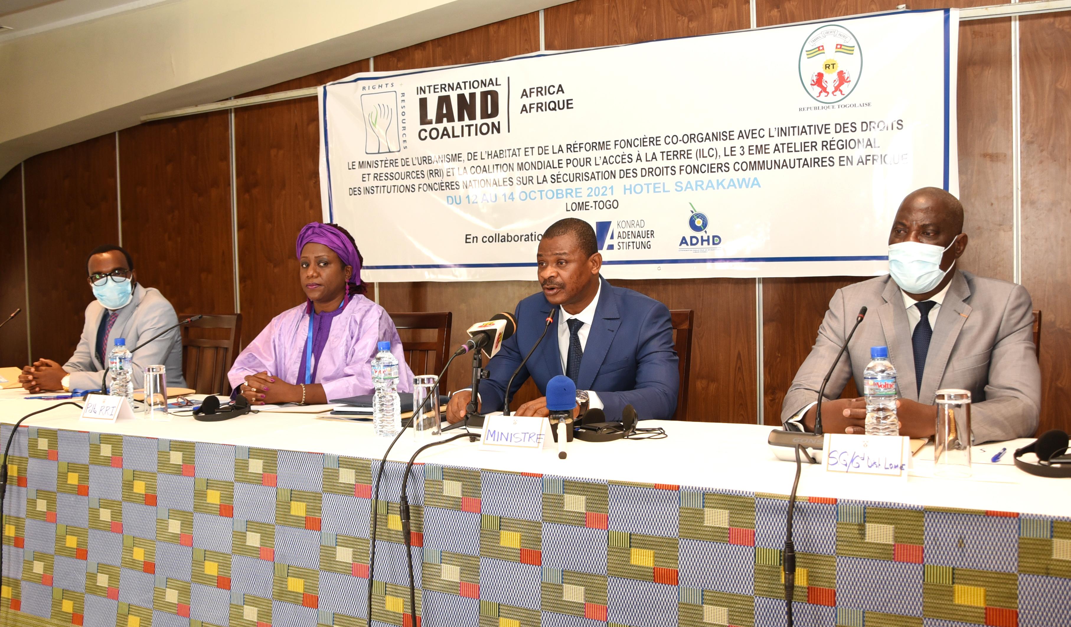 Lomé abrite la 3ème édition de la conférence régionale des institutions foncières nationale sur la sécurisation des droits fonciers communautaires en Afrique